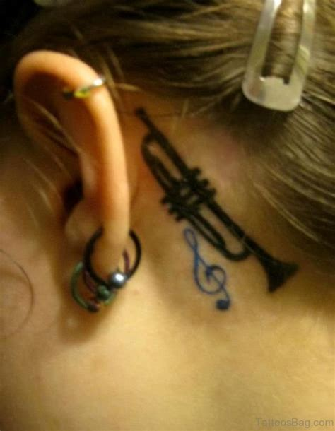 behind the neck tattoo designs 40 cool neck tattoos ear