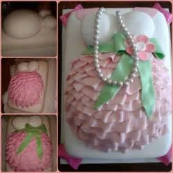 pink and green belly cake baby shower ideas