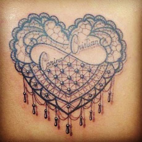 lace heart tattoo designs lace search tattoos i
