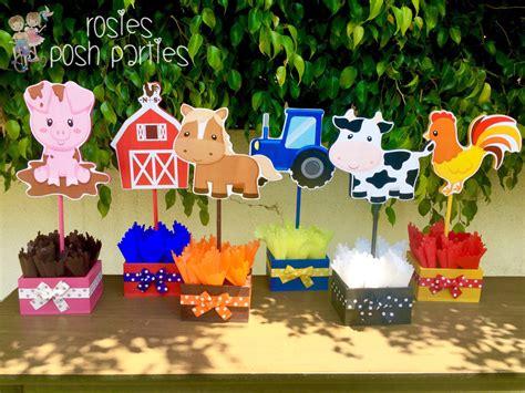 Animal Decoration Ideas by Farm Theme Birthday Wood Guest Table Centerpiece