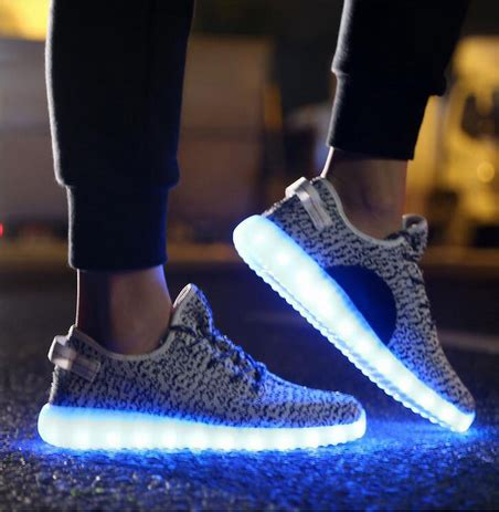 light up shuffle shoes yeezy inspired led shoes grey t sparx shop