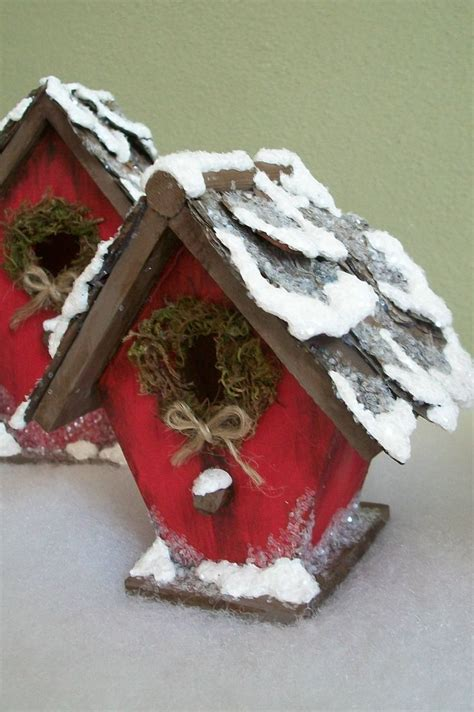 christmas bird houses 12 00 via etsy christmas 3