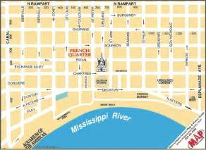 New Orleans French Quarter Tourist Map by Printable Map Of New Orleans French Quarter On The Map