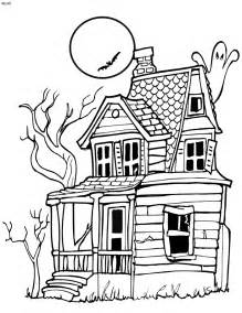Haunted House Outline by Haunted House Outline Coloring Home