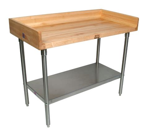 Kitchen Island Cabinet Base john boos nsf approved wood amp steel top work tables