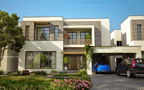 3d front elevation modern house plans house designs