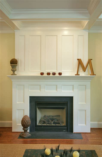 paneled fireplace