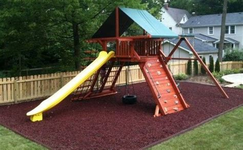 swing set rubber mulch 15 best images about playset area on pinterest plays