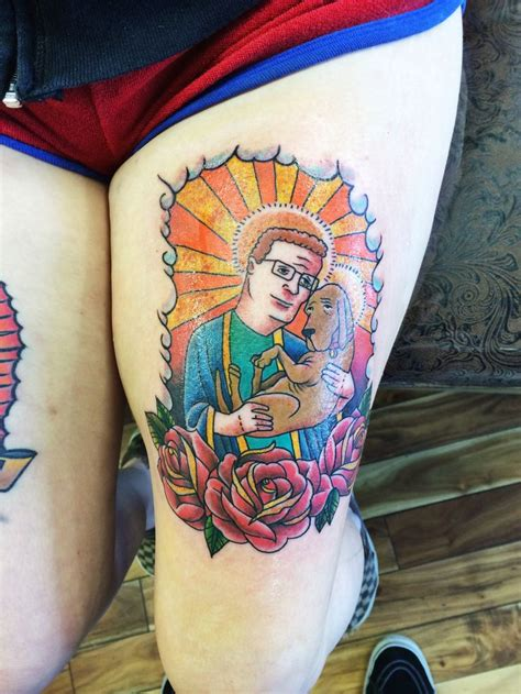 king of the hill tattoo matching king of the hill stuff