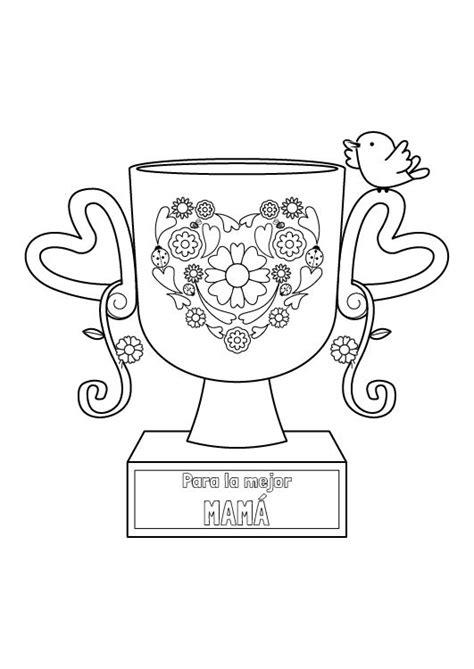 imagenes de amor para dibujar para mama trofeo para mam 225 dibujo para colorear e imprimir