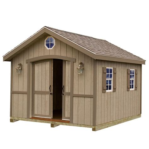 metal shed kits best barns cambridge 10 ft x 12 ft wood storage shed kit with floor including 4 x 4 runners
