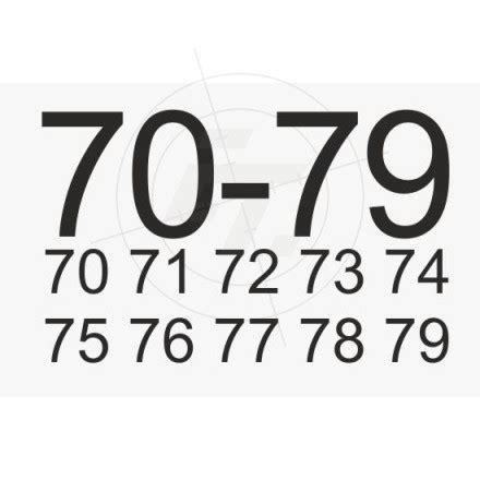 Aufkleber Zahlen by Sets Zahlenaufkleber Ziffer 10 99