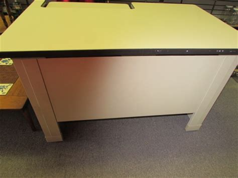 Lot Detail Sturdy Industrial Office Desk With Adjustable Sturdy Office Desk