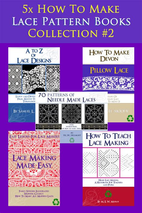 lace making pattern books special collection 5 x rare vintage how to make lace
