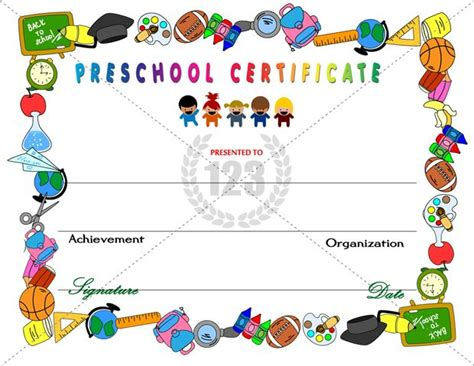 kid certificate templates free printable amazing preschool certificates for your