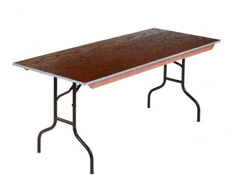 36 x 72 folding table midwest folding products 36 quot x 72 quot steel edge stained