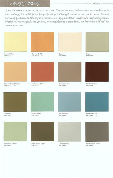 Modern Paint Colors | paradise palms some mid century modern paint colors