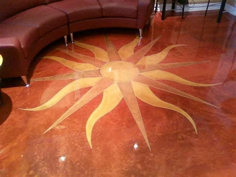 Luxury Home Floor Plan epoxy sunburst floor nj decobizz com