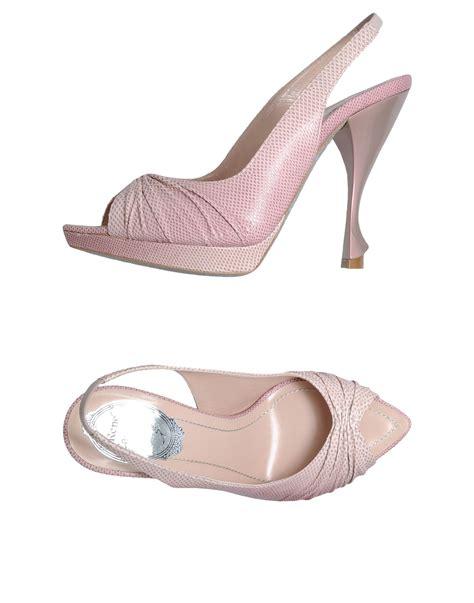 pink platform sandals rene caovilla platform sandals in pink light pink lyst