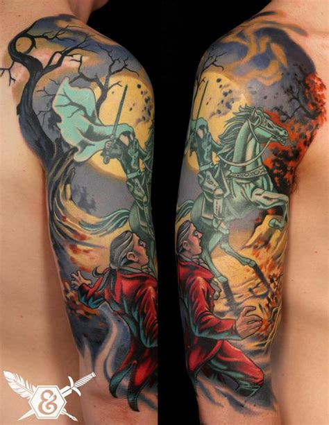 headless horseman tattoo sleepy hollow by russ abbott tattoos