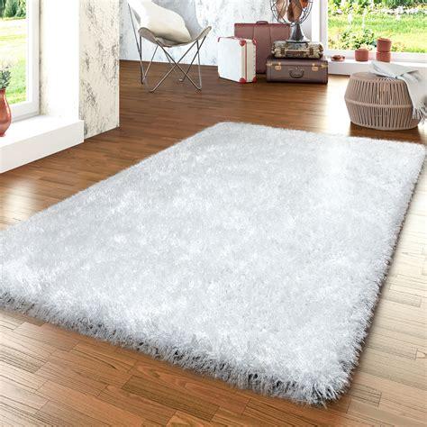 teppiche 140x140 moderner wohnzimmer hochflor teppich shaggy einfarbig mit