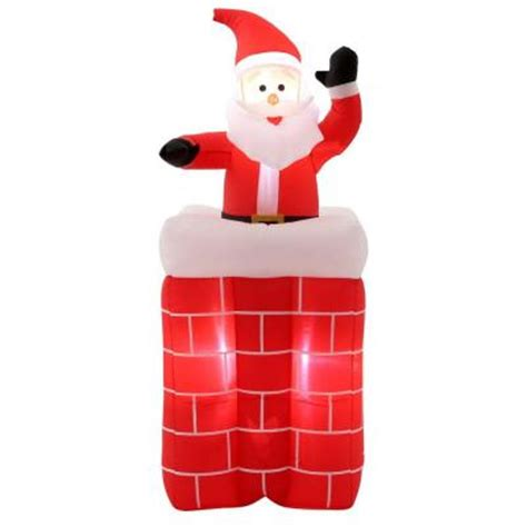home accents 5 ft h animated santa