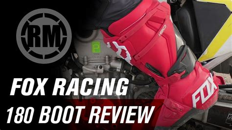 motocross boot review fox racing 180 motocross boot review