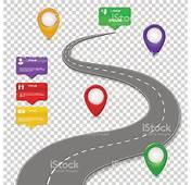 Navigation Infographics Design Concept With Car Road
