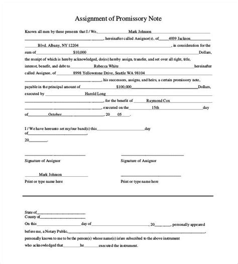34 Promissory Note Templates Doc Pdf Free Premium Templates Assignment Of Promissory Note Template
