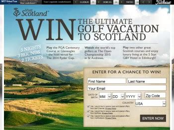 golf channel visitscotland sweepstakes sweepstakes fanatics - Golf Channel Sweepstakes