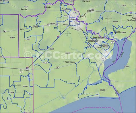 jefferson county zip code map jefferson county tx zip code boundary map