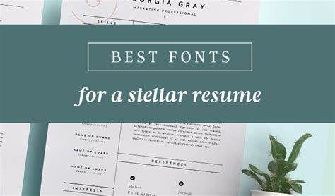 Best Resume Fonts Creative by Best Fonts For Resumes That Truly Stand Out Creative