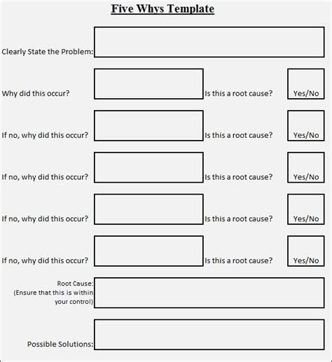 5 why template excel 5 whys template beepmunk