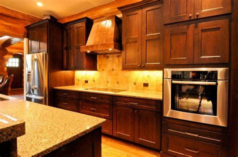 western kitchen cabinets water dance parade home mountain log homes of colorado