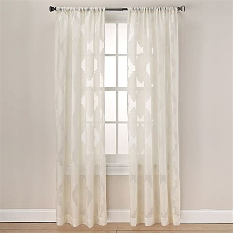 63 inch window curtains buy felicity 63 inch rod pocket sheer window curtain panel