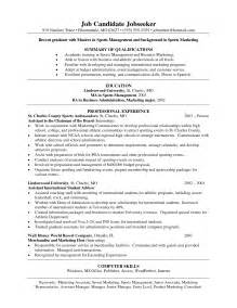 resume sles for marketing cover letter for event management