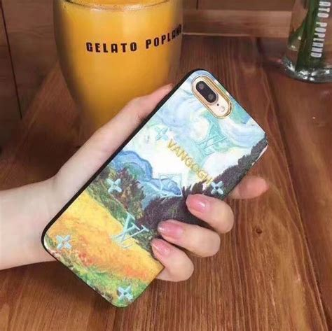 Iphone 8 Plus Louis Vuitton Marble Hardcase buy wholesale lv embroidery leather for iphone 8 plus louis vuitton painting cover