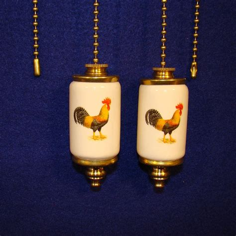 rooster fan light ceiling fan pull chain by