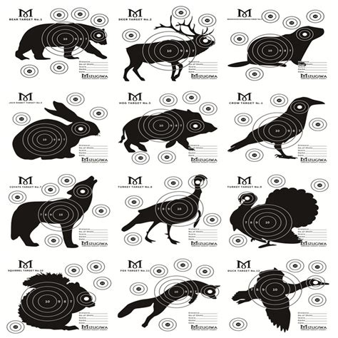 printable animal bb gun targets card paper 15cm paper air rifle pistol gun bb airsoft
