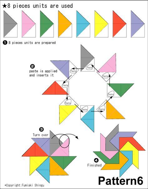 cara membuat origami bunga sakura origami pattern1