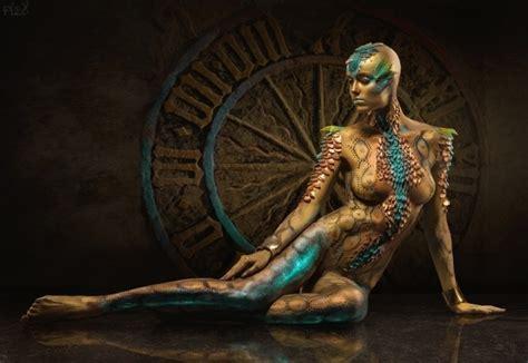 intricate  elegant examples  human body art