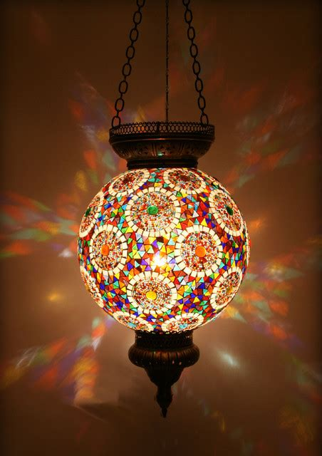Turkish Pendant Light Turkish Style Mosaic Pendant L 35cm Mediterranean Lighting Other Metro By Hedef
