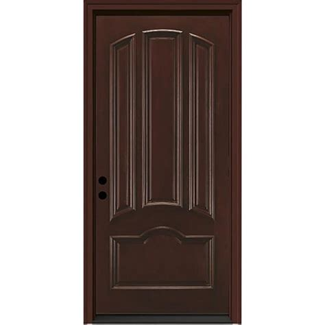 Fiberglass Exterior Doors Reviews Shop Jeld Wen Right Inswing Sequoia Stained Fiberglass Prehung Entry Door With