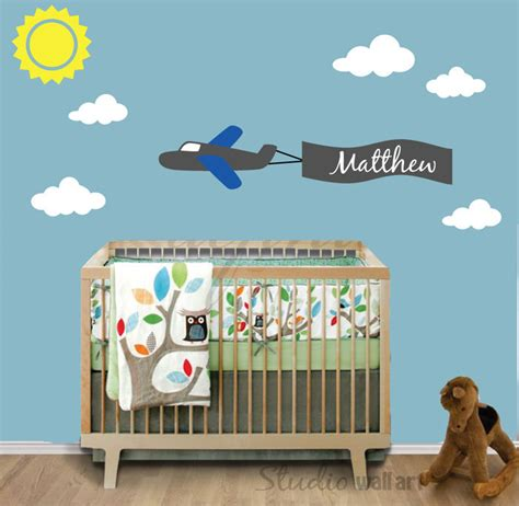 Airplane Wall Decals For Nursery Nursery Wall Decal Airplane Wall Decal Reusable Removable