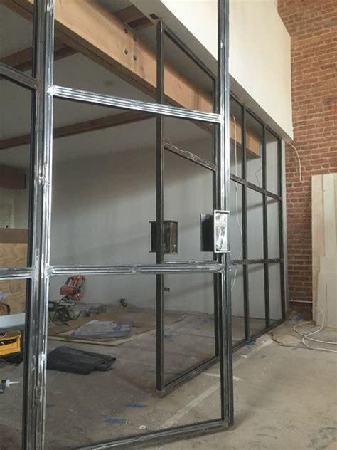 Industrial Steel French Doors Glass Panel Industrial Steel Doors Exterior