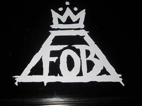 fall out boy fob band logo music vinyl decal sticker car