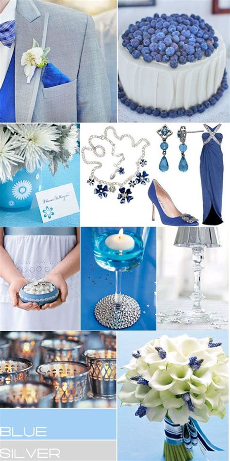 blue and silver theme blue silver wedding colors palette royal blue grey wedding colours blue silver weddings