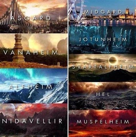 thor film yggdrasil thor nine realms google search thor the dark world