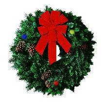 christmas wreath animated images gifs pictures animations