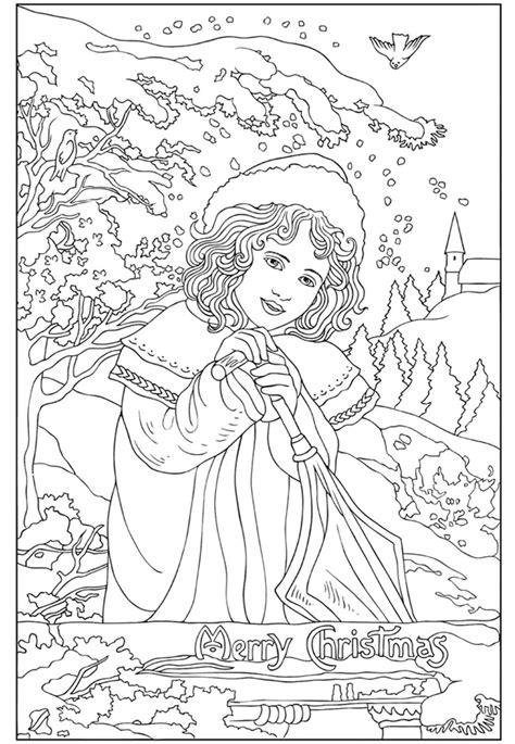 vintage coloring pages adults creative haven vintage christmas greetings coloring book